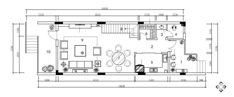 欧式田园风别墅内部装修施工图设计(附实景图)