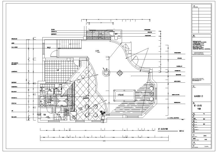 名人堂别墅浅水湾室内设计施工图(含施工图JPG)