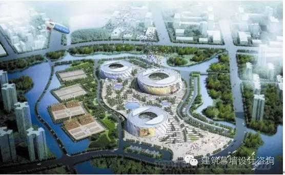 天津团泊湖网球中心双曲面建