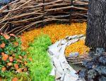 完美覆盖——荔驰有机覆盖物在花境中的搭配应用