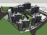 粤海国际住宅建筑设计SU精模型