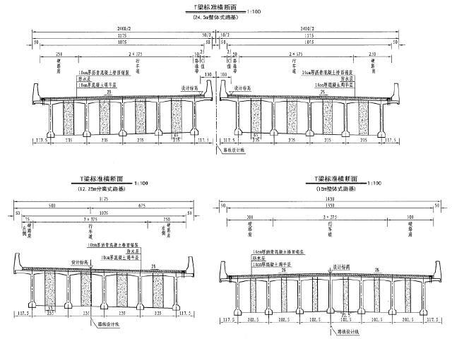 [浙江]2017年国道低山丘陵区高速公路工程设计图纸1689页PDF(路桥涵隧,排水,通用图)