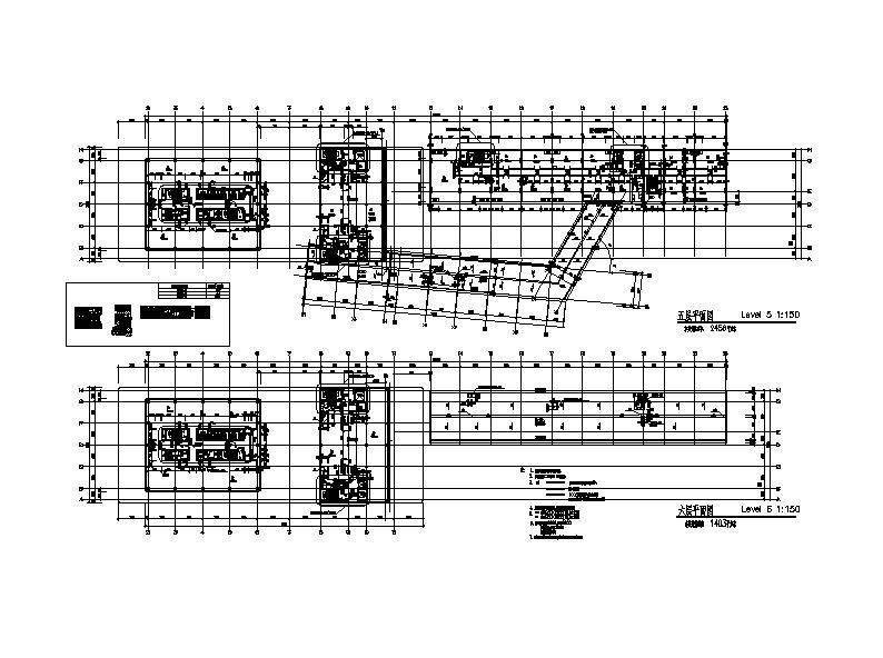 [施工图][上海]高层核心筒结构塔式办公综合体建筑施工图图片