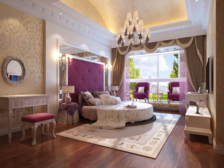 浪漫温馨卧室3D模型下载