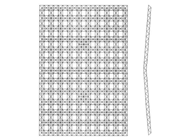 輕屋面點支承平板網架結構設計