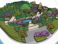 法云安缦风格民宿客栈度假村酒店建筑方案设计SU模型