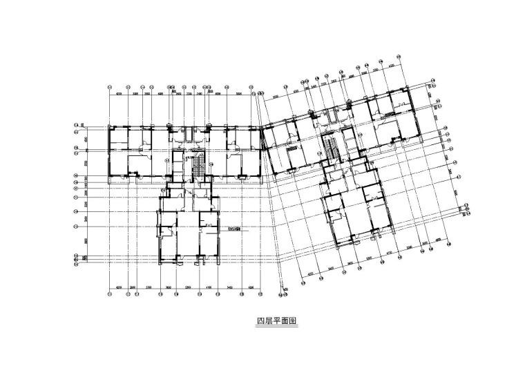 2#楼四层平面图