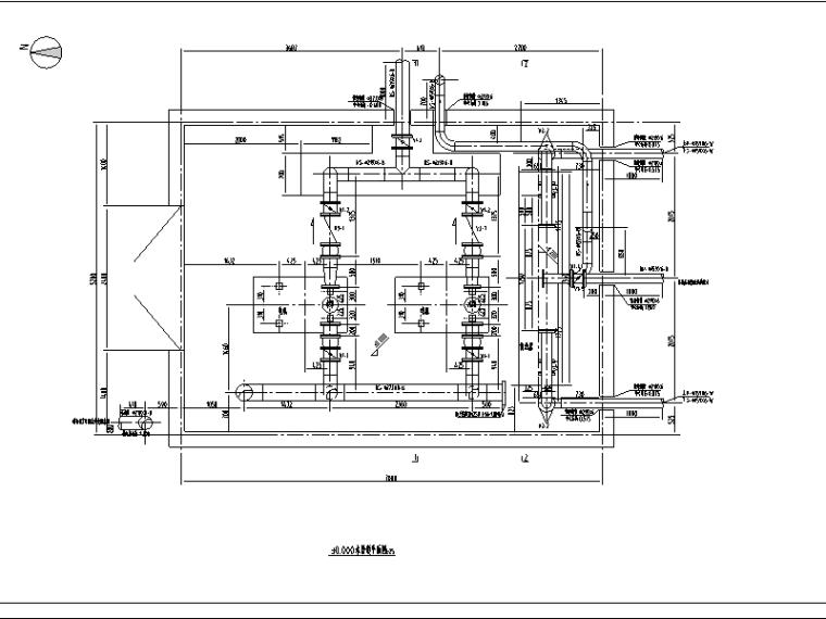 某氮压机软化水工程水处理施工图