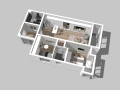 现代时尚小户型住宅方案室内设计模型
