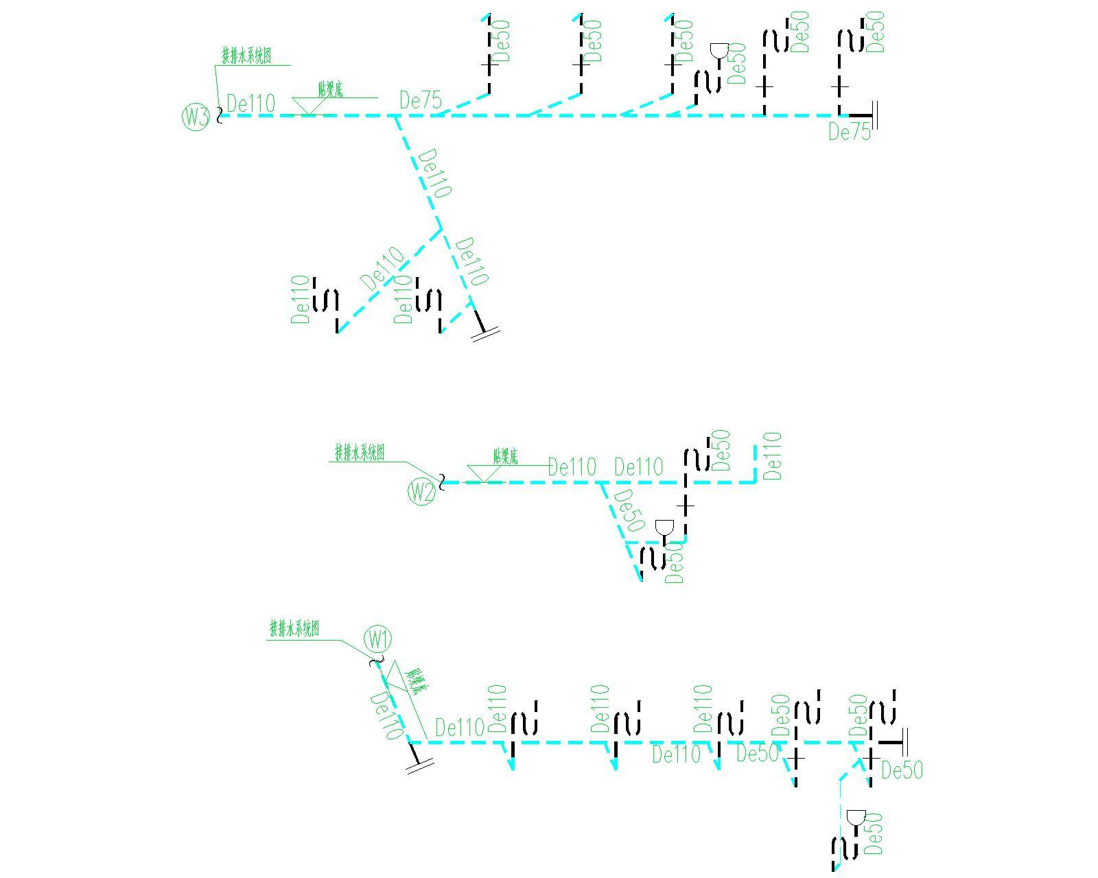 [安徽]古生物化石馆给排水全套图纸(给水系统、排水系统、消防系统)_2