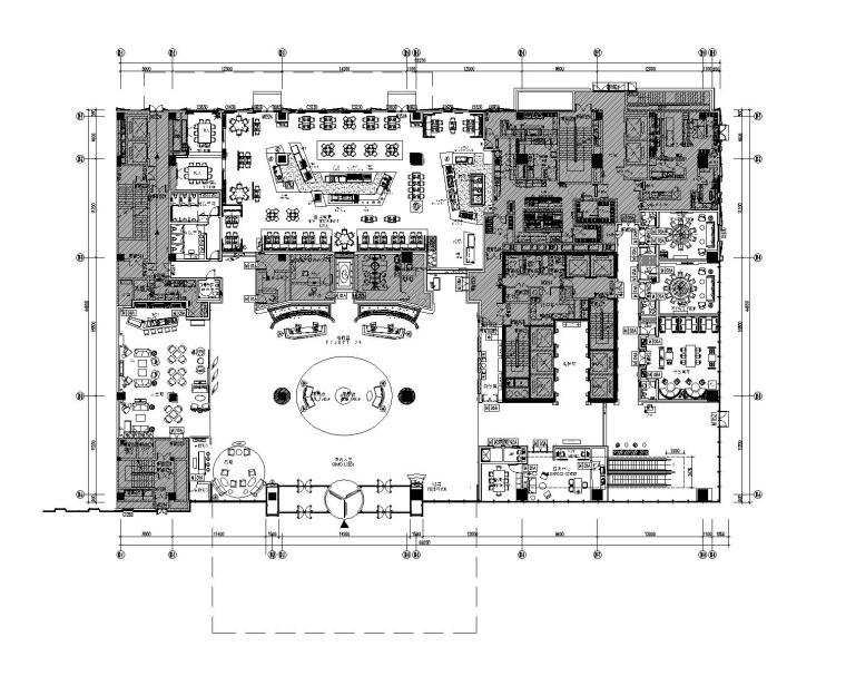 [福建]龙岩万达嘉华酒店室内装修设计竣工图(全套CAD)