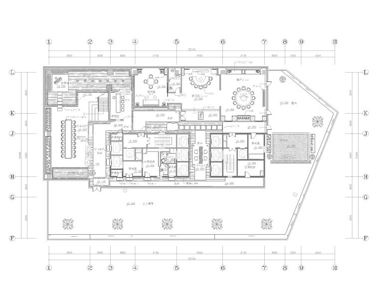 [内蒙古]鄂尔多斯金融广场茶会所室内装修工程设计施工图+设计方案