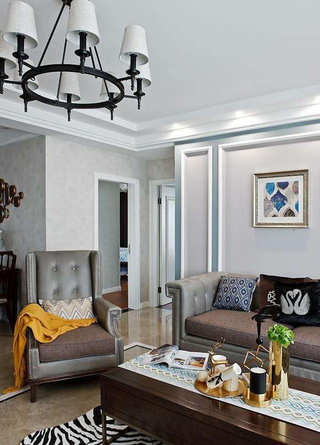 領秀城中央公園137平現代美式裝修案例|萬泰裝飾