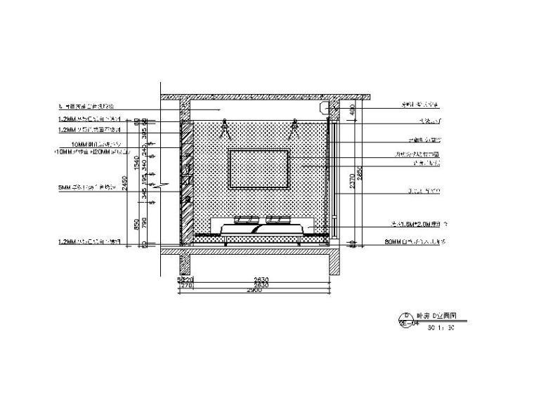 【广东】现代风格复式样板房CAD施工图(含效果图)_5