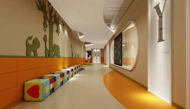 意空间早教中心学院室内设计概念方案图(13张)