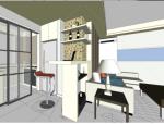 现代风格特色家装室内设计SU模型
