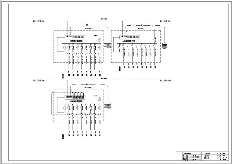 内蒙古体育馆智能照明系统全套图纸_7