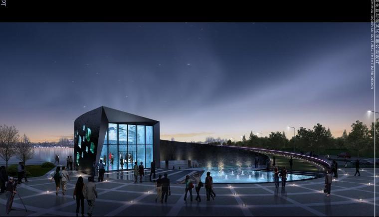 苴却砚文化博物馆建筑方案设计(CAD+文本+PPT)