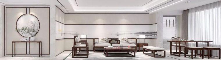 新中式徽派元素山水画为轴线的家装设计_2