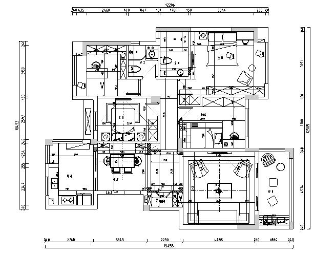 美式风格山湖间别墅设计施工图(附效果图)_4