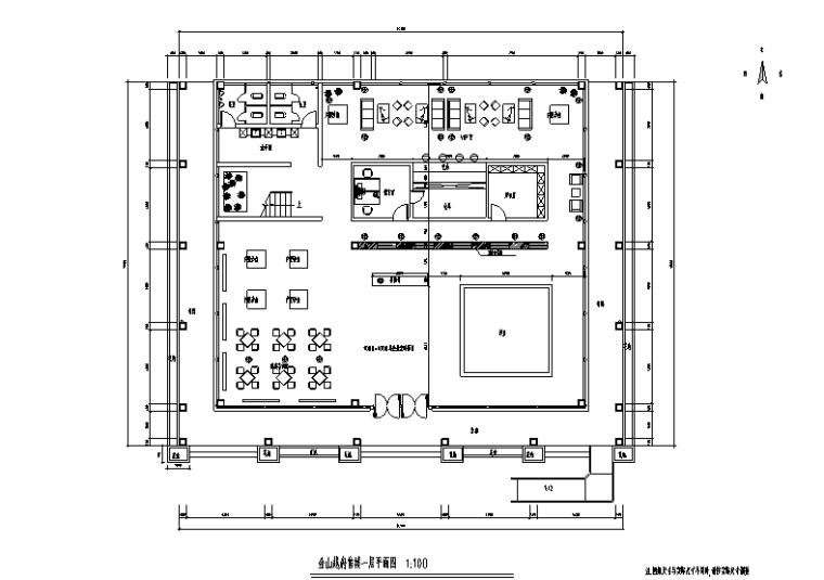 金山越府售楼处空间设计施工图(附效果图)
