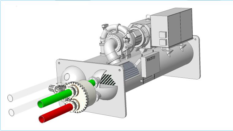 刷式在线清洗冷凝器管束的工作原理