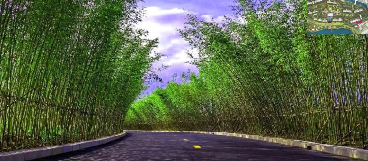 [苏州]正荣盛泽悦棠湾示范区+全区景观方案(新中式风格)C-1效果图