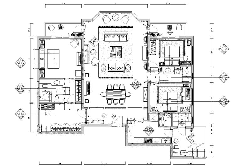 [江苏]温州香榭丽花园住宅装修施工图