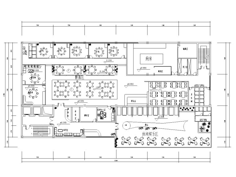 [湖南]古典风格中餐厅装修施工图