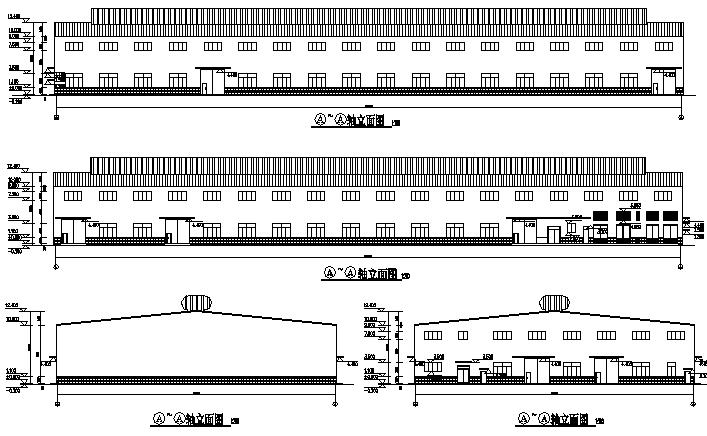 福建细木工板车间单层门式刚架结构施工图_1