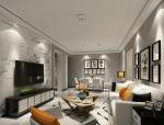 时尚灰色客厅3D模型下载
