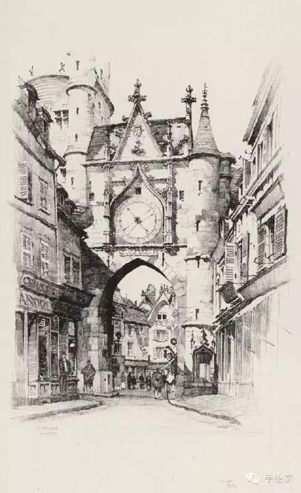 百年经典建筑设计手绘图_11