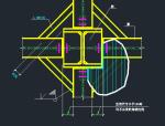支撑斜杆为H型钢与双节点板的连接