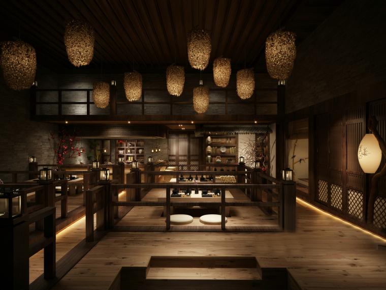 日式江户时代风格小酒馆