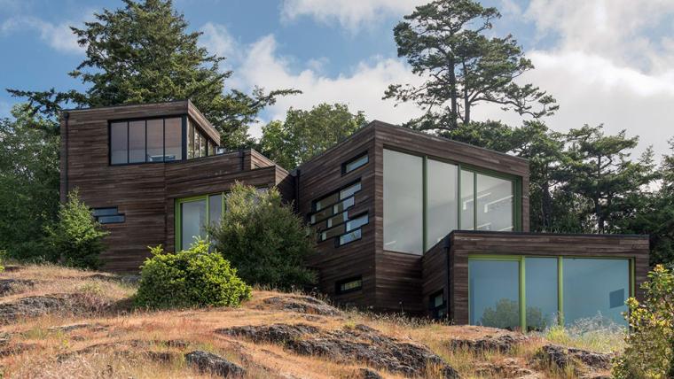 美国层叠盒子形的沿海住宅