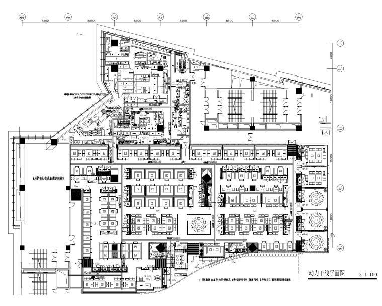 [古鲁奇]海底捞火锅武汉群星城店丨效果图+CAD施工图+机电施工图+后厨施工图+实景图