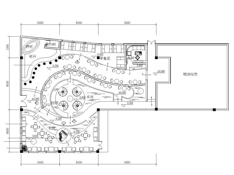 LOFT工业风格酒吧装修施工图(附效果图)