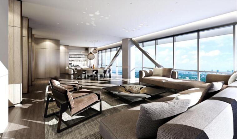 [北京]枢密院顶层私人会所室内空间概念方案|空中四合院