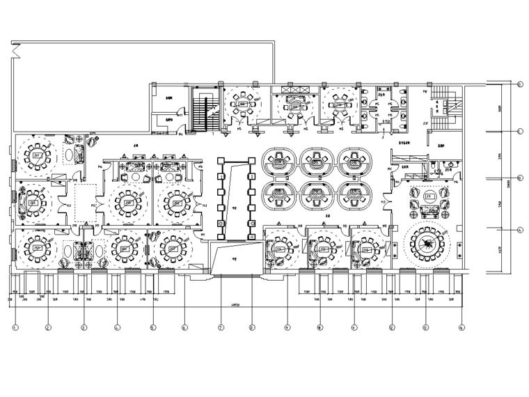 [湖北]现代简约风格——赛江南艺术餐厅室内装修竣工图