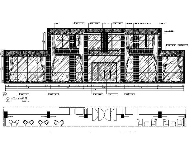 [厦门]时尚奢华高端大气售楼处室内设计施工图(含效果图)_4