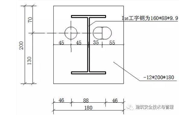 一种新型短肢工字钢悬挑脚手架-花篮拉杆工具式悬挑架施工工法