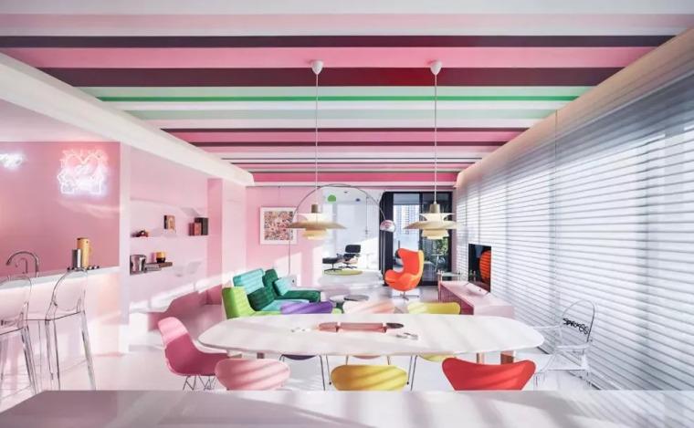 女工程师花100万把家刷成20种颜色,又美又解压