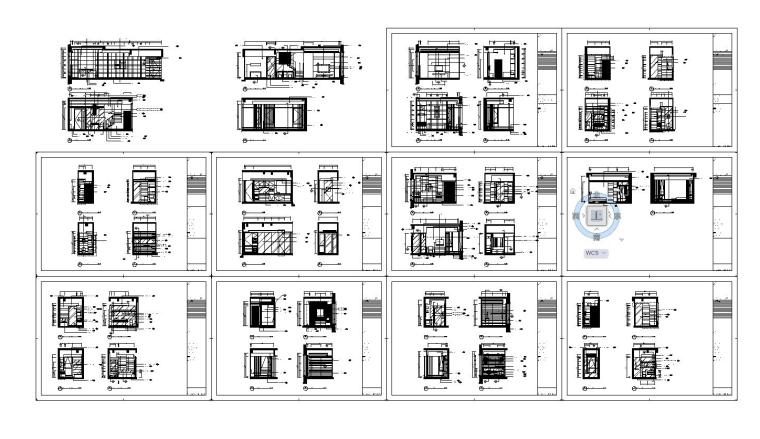 [香港]现代轻奢风格复式楼层装修全套施工图(附效果图)_13