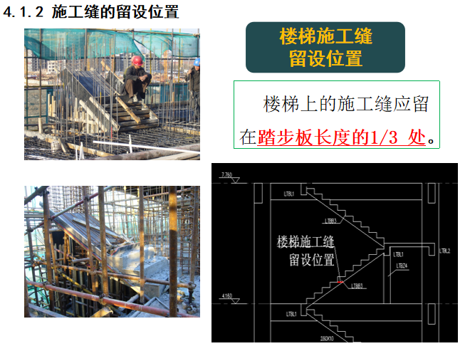 混凝土分项工程施工缝后浇带培训讲义_3