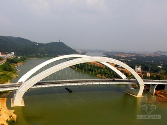 大跨径曲线梁非对称外倾拱桥肋间平台支架施工方案(附计算书)