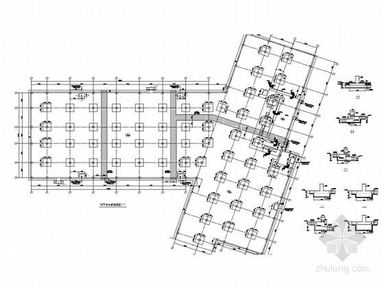630个车位框架结构地下车库结构图(含建筑施工图)