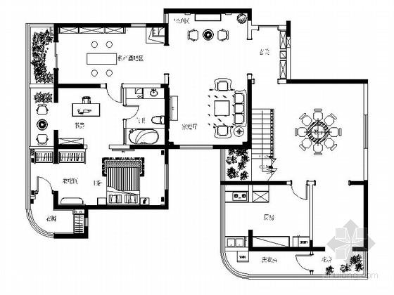 名师设计简欧风情跃层样板间CAD装修施工图(含效果)