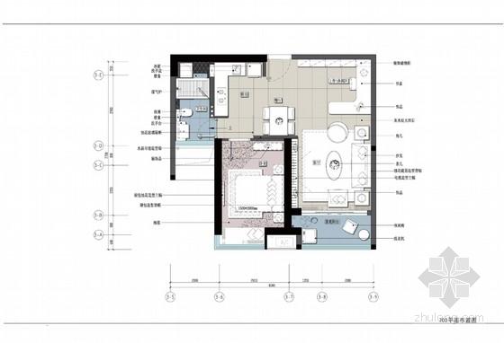 三个户型现代风格样板间室内装修设计方案