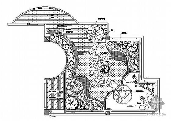 某空中花园的施工图和效果图