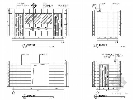 [南京]全国重点综合性历史艺术博物馆办公综合楼装修施工图卫生间立面图